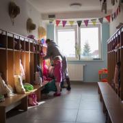 Przedszkole UG, szatnia maluszków